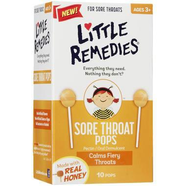 Little Remedies润喉棒棒糖 10支,US$3.99 (约¥26)