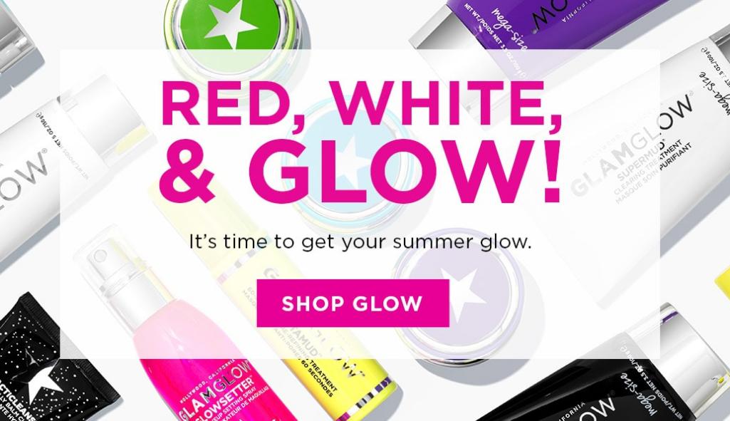 Glam Glow官網獨立日精選發光面膜最高滿減$30