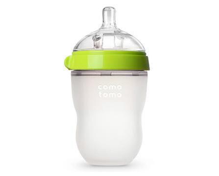 Comotomo 可么多么 自然感觉硅胶奶瓶 绿色 8盎司/250毫升