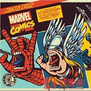 "Marvel x Santa Cruz ""Screaming Hand""联名滑板系列"