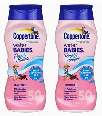 Coppertone Water Babies 水宝宝 SPF50 防晒霜(237ml)