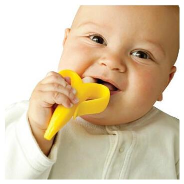 婴儿牙刷:baby banana 香蕉宝宝 硅胶婴儿牙胶牙刷
