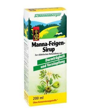 德国Manna无花果润肠通便糖浆 (200 ml) 德国大型网上药房Apodiscounter有机保健,让你的肠胃动起来~