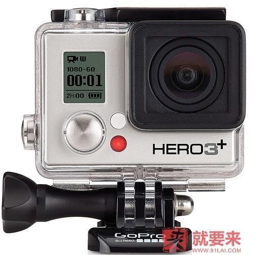 官方銷售!GoPro HERO3+ 銀色版防水運動攝像機