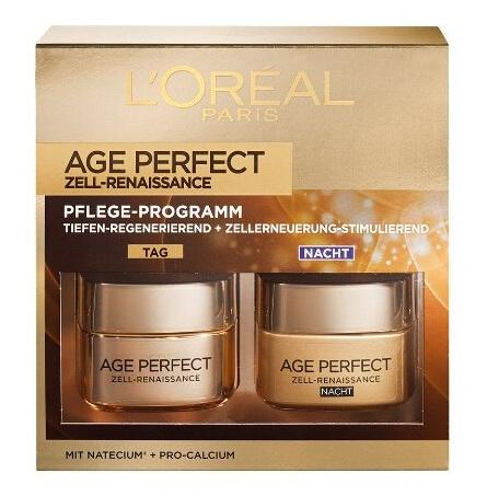 【德亚直邮】L Oréal 欧莱雅 Age Perfect 臻颜日夜面霜套装 50ml*2