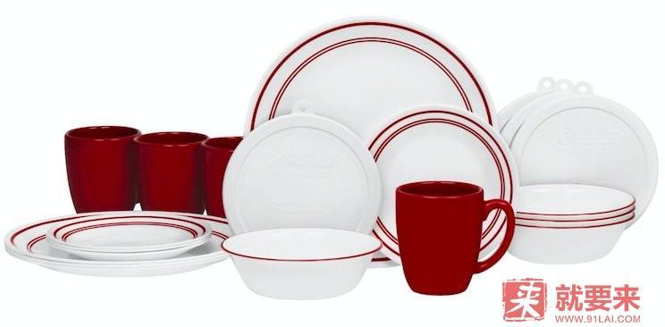 CORELLE 美國康寧 白色餐具20件套