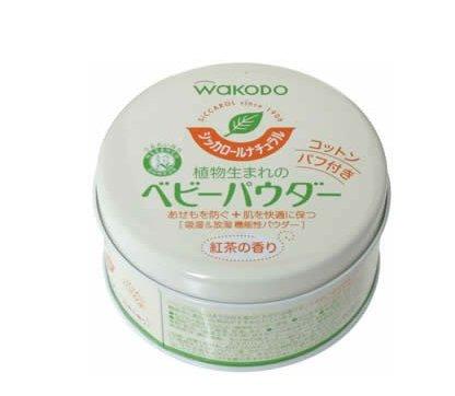 夏日育儿必备:Wakodo和光堂植物性爽身粉 红茶香味120g