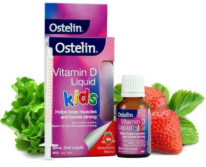凑单品:Ostelin 婴幼儿维生素D滴剂 20ml 草莓味