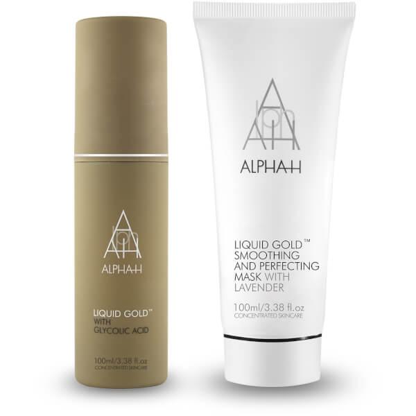 Alpha-H 液体黄金+平滑完美面膜