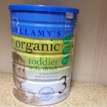 补货:澳洲Bellamy s贝拉米3段婴幼儿配方奶粉 900g