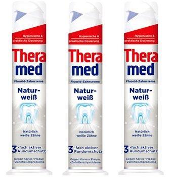 德国Theramed 汉高泰瑞美 自然美白站立式牙膏 强效去除牙石100ml×3支