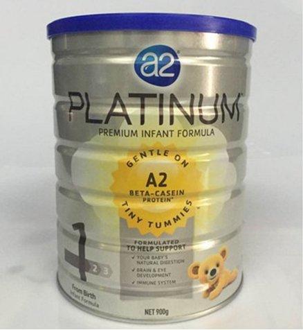 澳州A2 白金系列1 段婴儿配方奶粉 900g 罐(0-6个月)