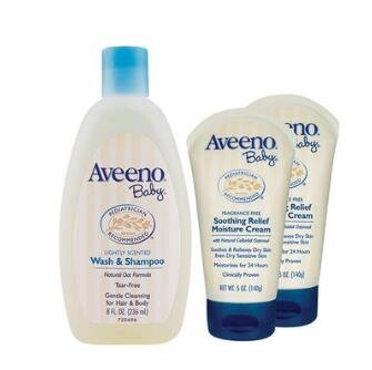 Aveeno 艾维诺纯天然燕麦洗护套装 3件 二合一236ml*1+润肤乳140g*2