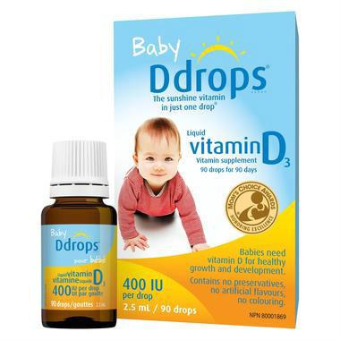 【美国Babyhaven】Ddrops 婴儿维生素D3滴剂 90滴 400IU