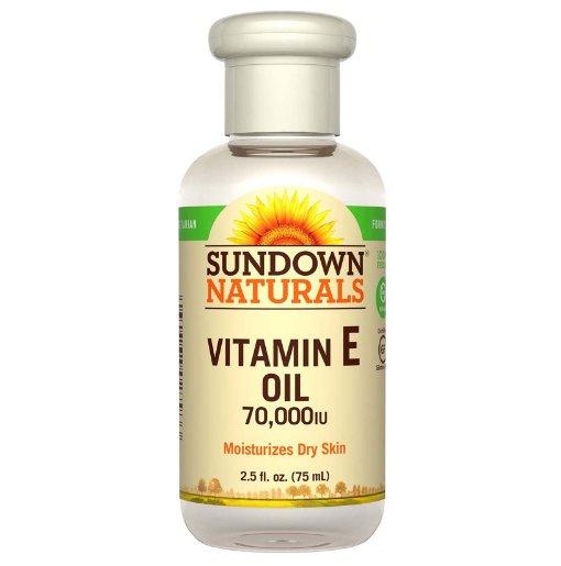 Sundown Naturals 纯维生素E油,70000IU,75毫升 补水保湿 祛斑抗皱 防晒