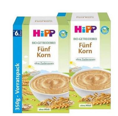 德国直邮!Hipp 喜宝 五种谷物米粉 6M+ 350g*2盒