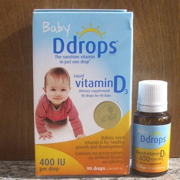 又便宜啦!Ddrops 婴儿维生素D3滴剂 90滴 400IU【4瓶装包邮】