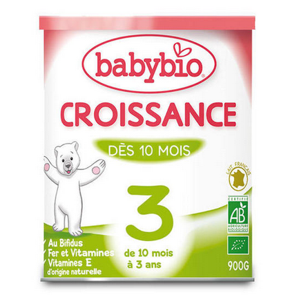【下单9折】 Babybio 伴宝乐3段有机成长奶粉 900g