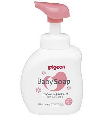 【中亚Prime会员】 Pigeon 贝亲 婴儿用泡沫型沐浴露 500ml