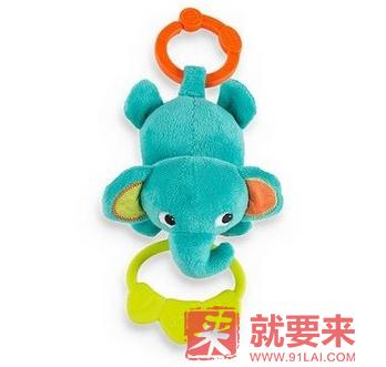 【立减2美元+免邮】Bright Starts 拉拽音乐毛绒玩具 大象
