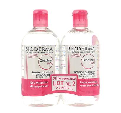 【法国ICP药房】Bioderma 贝德玛 温和无刺激卸妆水 粉水 500ml 2瓶装