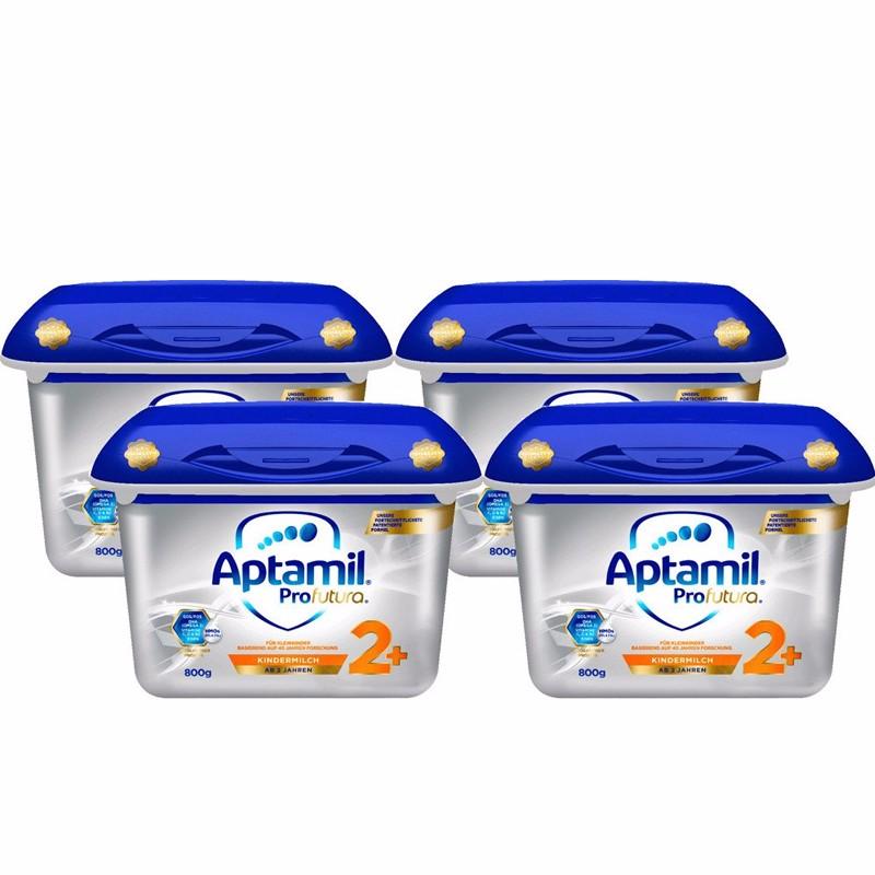 德國直郵 Aptamil 愛他美白金版嬰幼兒配方奶粉2+段800g 4罐裝