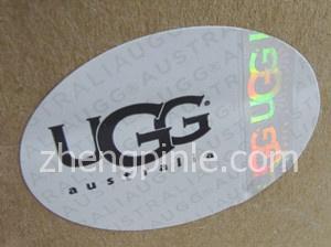 UGG雪地靴的全息防伪标签